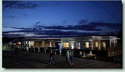 Solar Decathlon, evening photo