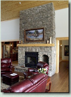 Bob's Lake country retreat - fireplace